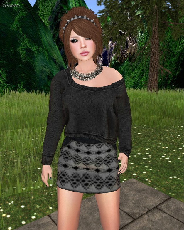 Poised - Six Mesh High Waist Mini Skirt-2