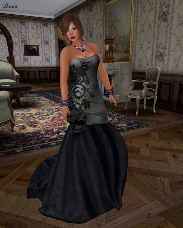 Apple May Designs - Eve Gown Grey