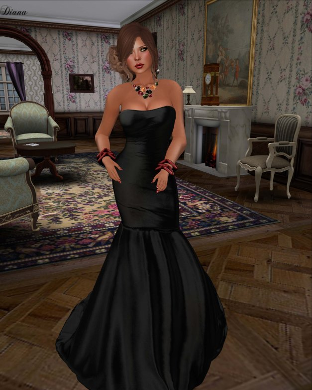 Apple May Designs - Neveah Gown Black