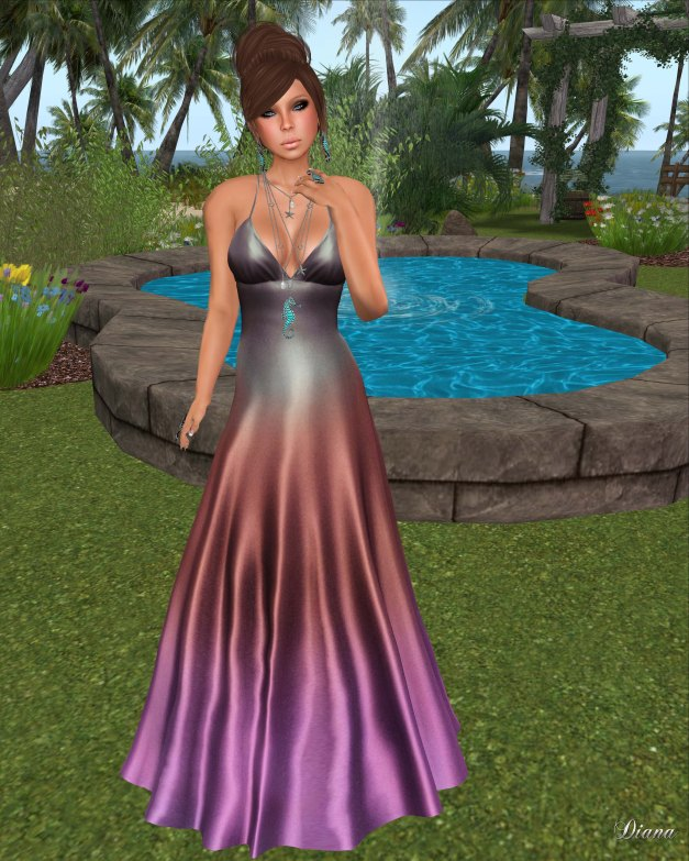 Baiastice - Arya Dress-ombre ruby