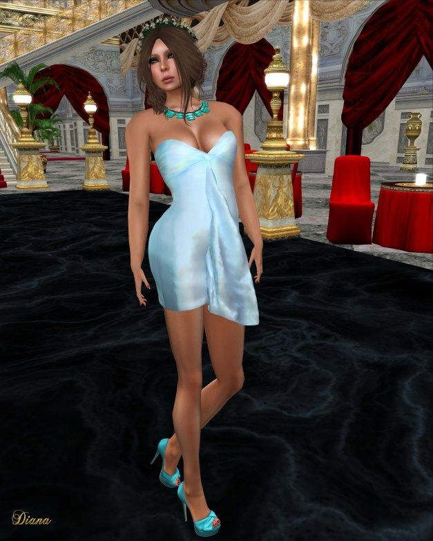 Cynful - Kamalin Dress-Babyblue