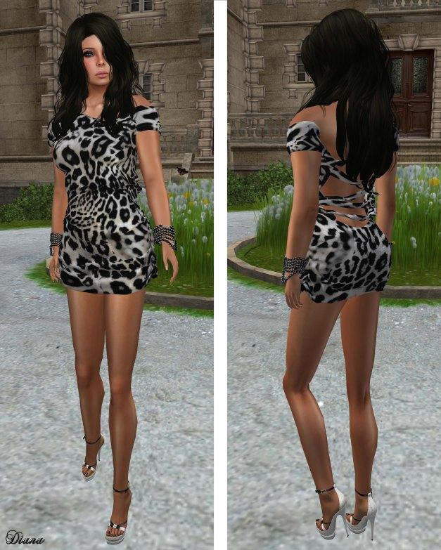 Fashion Fears - Maya Dress Print Black and White