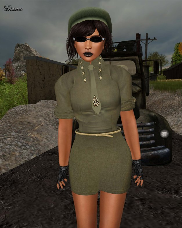GizzA - Sergeant  Suit Army Green