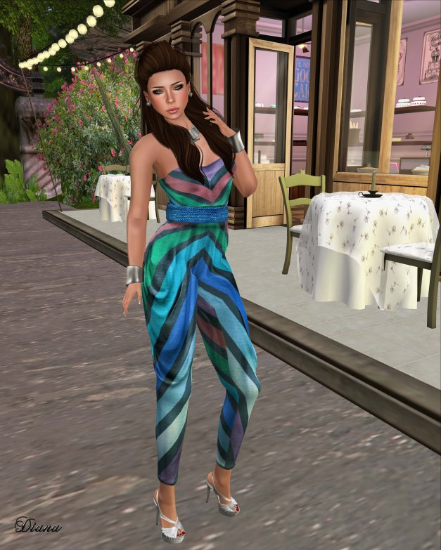 GizzA - Tube Jumpsuit blue