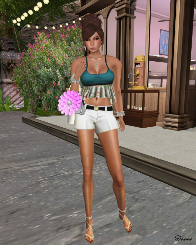 Just BECAUSE - Fun & Flirty Cami Top and Fun & Flirty Belted Shorts