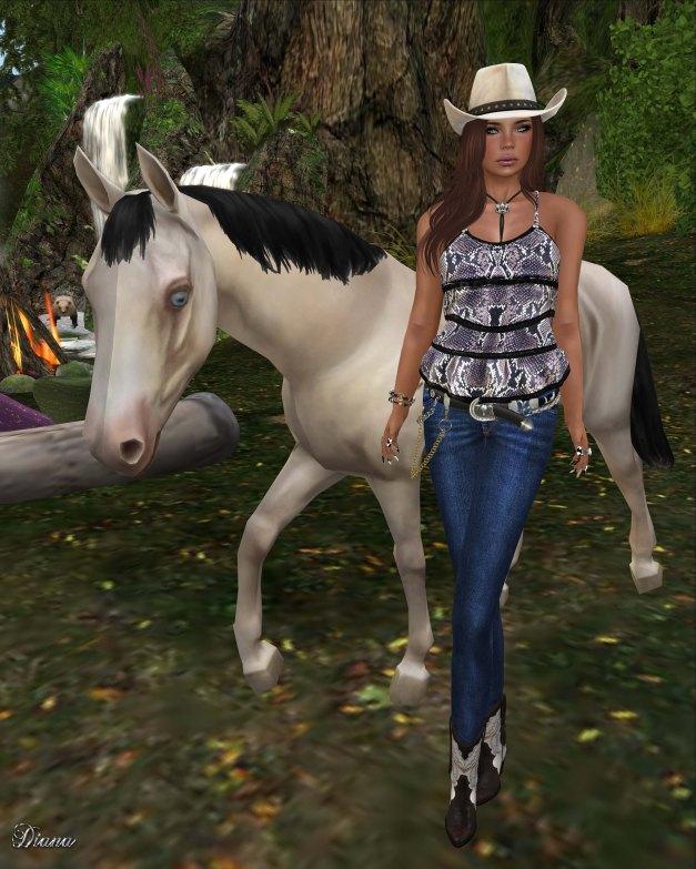 Lapointe & Bastchild - S'Wear Bianca Camisole Top-Animals-2