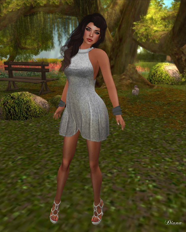 !Rebel Hope - Angela Mesh Dress Stone