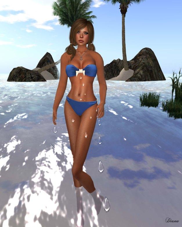 !Rebel Hope - Sara Mesh Bikini Blue