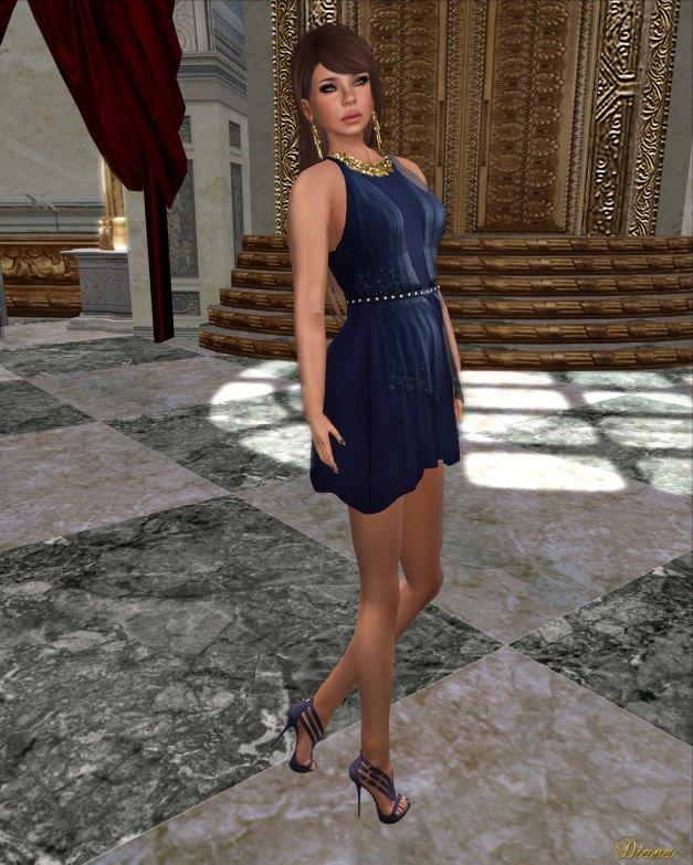 Baiastice - Claudette Dress blue