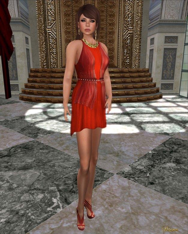 Baiastice - Claudette Dress red