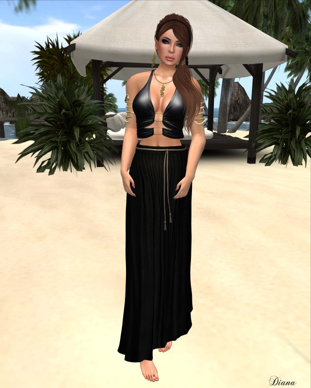 Baiastice - Mjrie top and Yse maxi skirt black