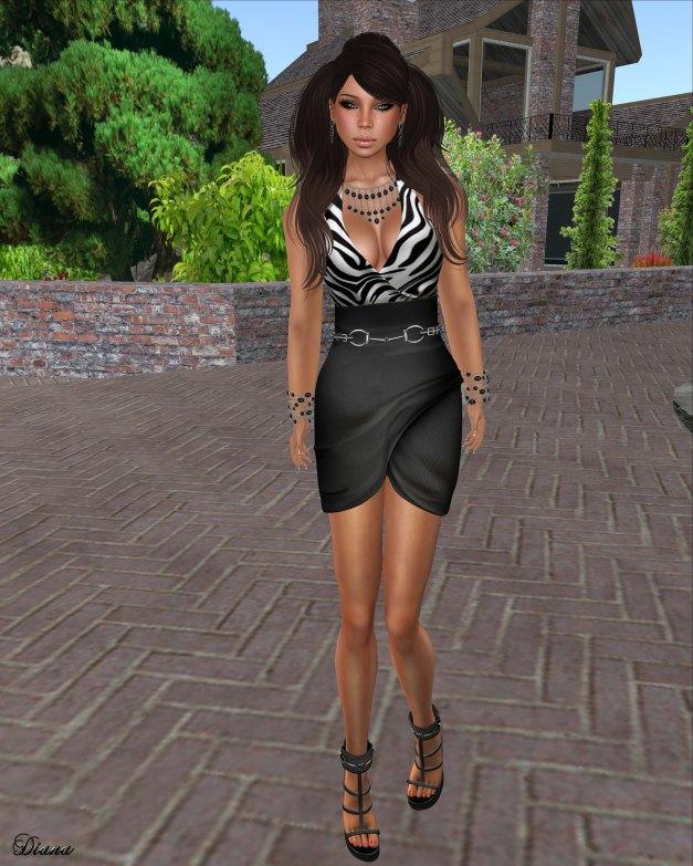 Gabriel - Mesh Wrapping Dress Black