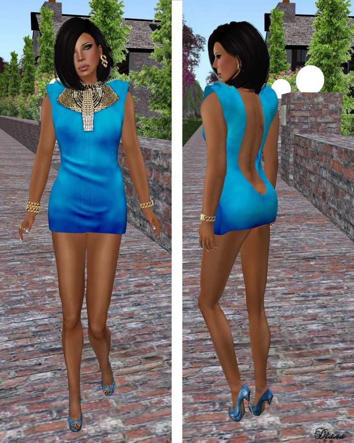 GizzA - Thorn Dress blue