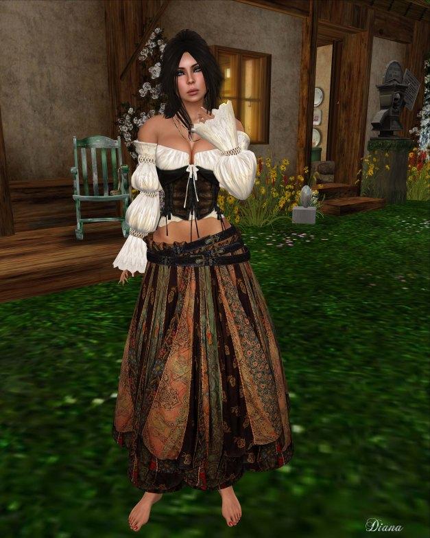 Hudson`s Clothing - Patches Gypsy Princess Dress Set