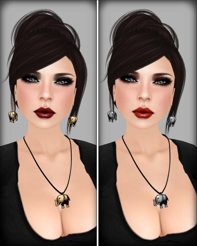 Izzie's - Kaelyn 20's Skin dark red lips and fire lips