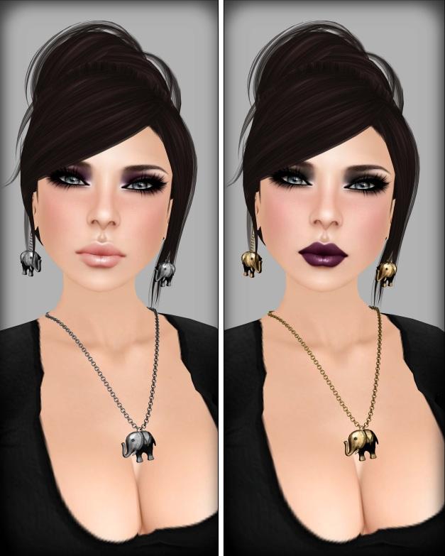 Izzie's - Kaelyn 20's Skin nude lips and purple lips