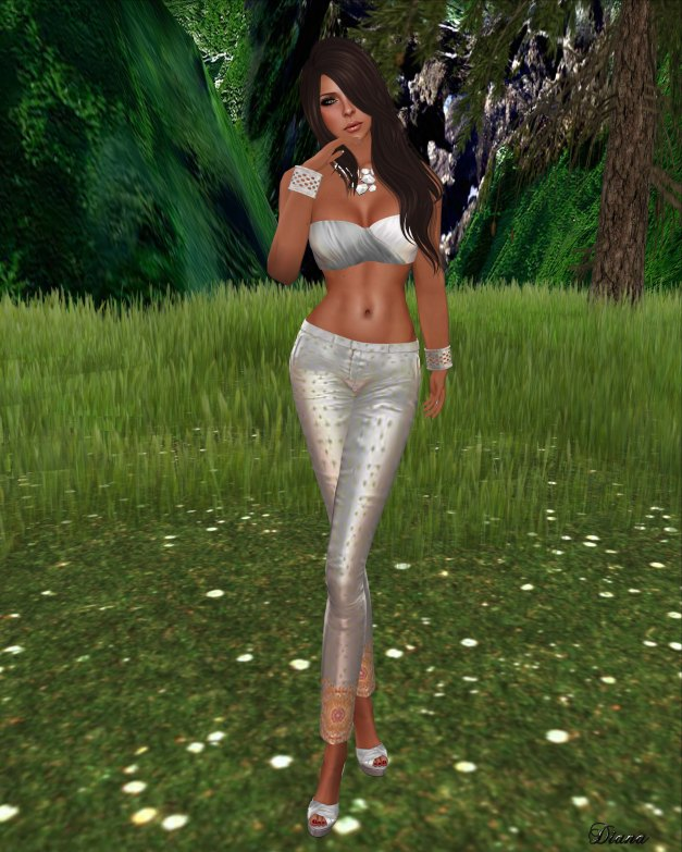 One Bad Pixel - Wrap Top Silver and Saloni Pants Silver-2