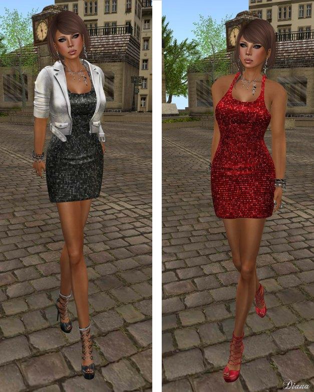 !Rebel Hope - Lyra Mesh Sequin Dress and Kyndal Mesh Leather Jacket-1