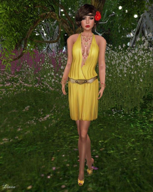 Teefy - Lillian Halter Top Sunny and Florence Skirt Sunny-1