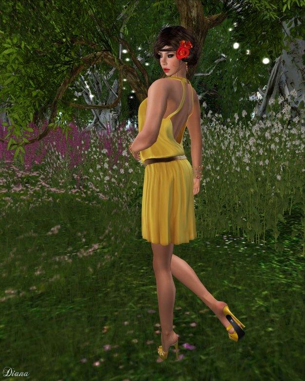 Teefy - Lillian Halter Top Sunny and Florence Skirt Sunny-2