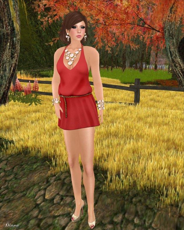 Drift - Summer Dress Red