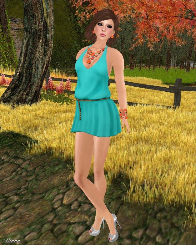 Drift - Summer Dress Turquoise