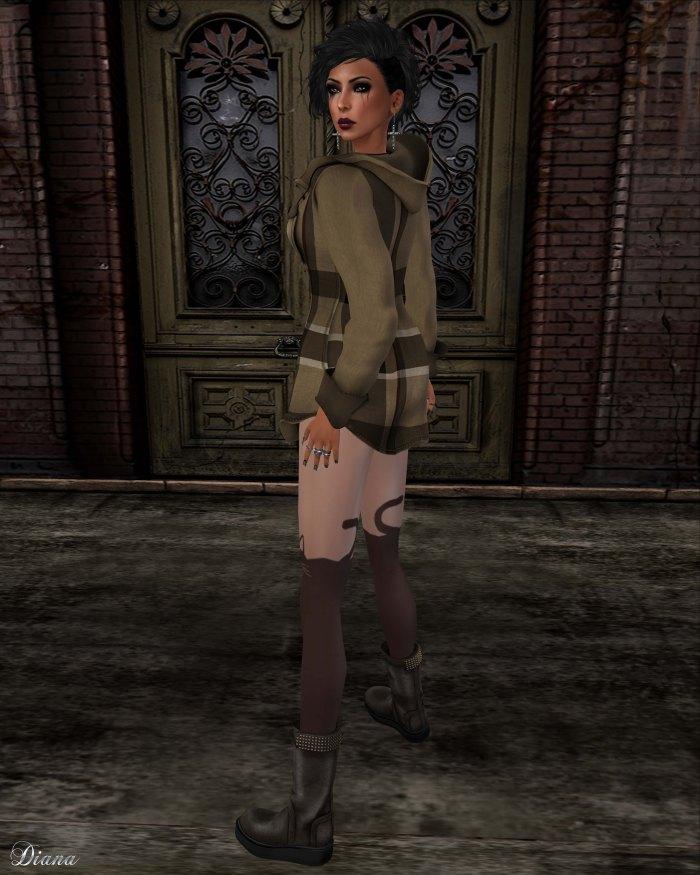 Gabriel - Hoody Dress Plaids Brown