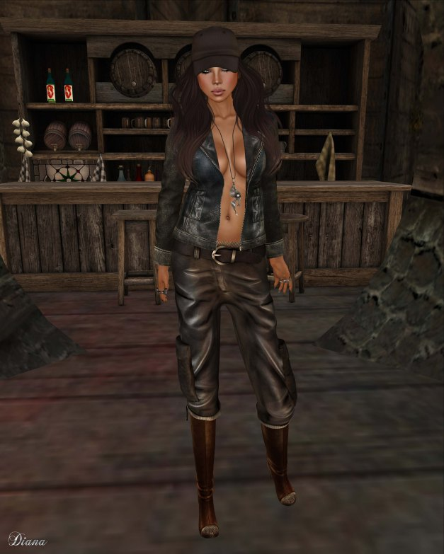 GizzA - Vintage Leather Jacket and Leather Cargo dirty