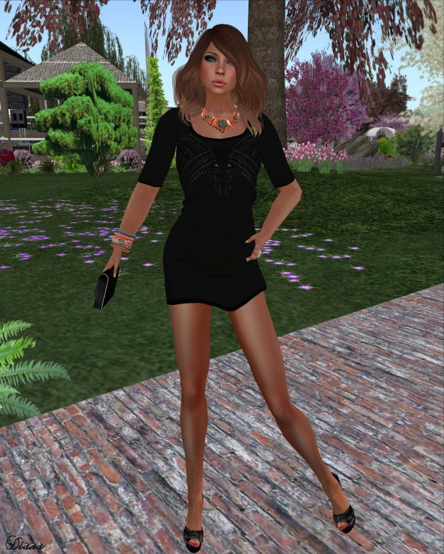 Immerschoen - Mesh MiniDress Ellie (Black)-1