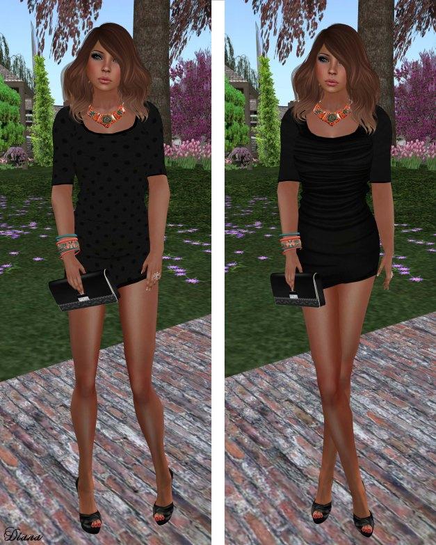 Immerschoen - Mesh MiniDress Ellie (Black)-2