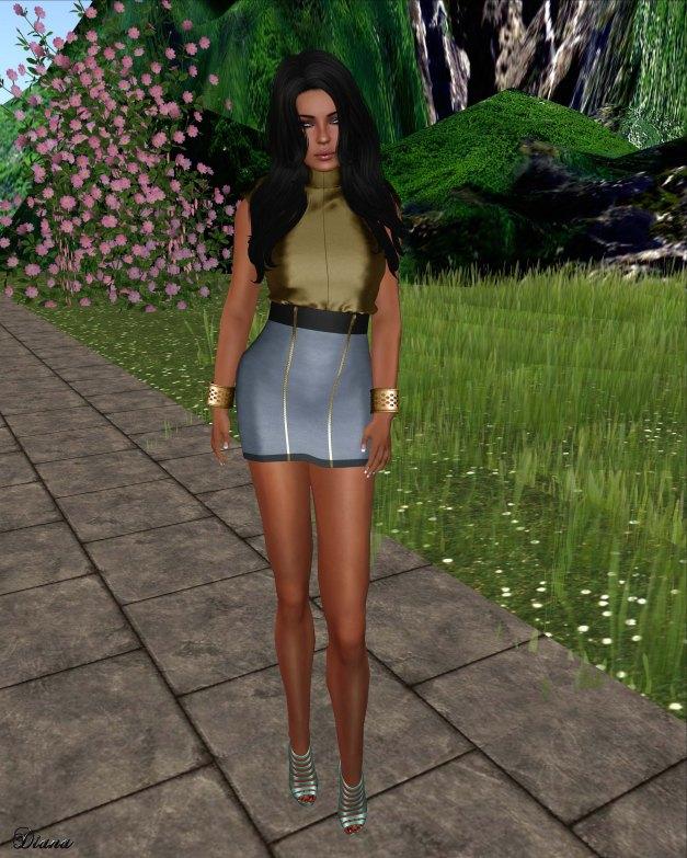 Loordes of London - Pinjore Dress gold steel