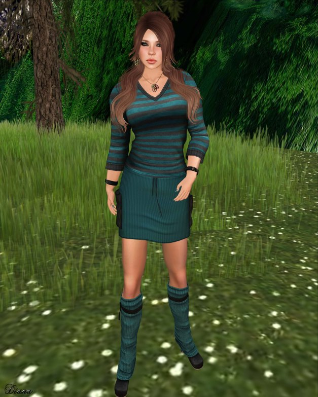 Sn@tch - Mesh Paris Striped Tees and Mesh Parker Cord Skirts-1