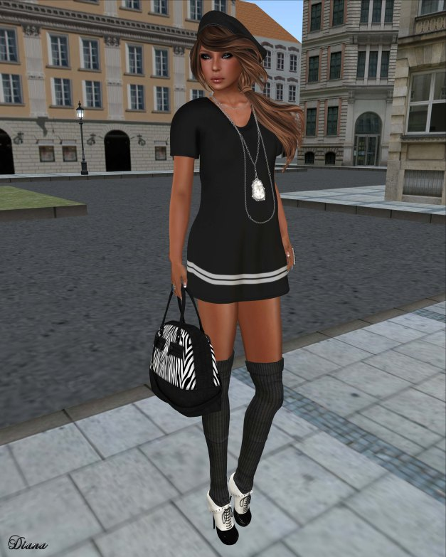 SYSY's - Mesh Chemise Dress Black-1