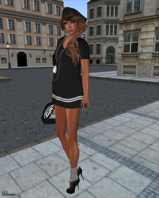 SYSY's - Mesh Chemise Dress Black-2