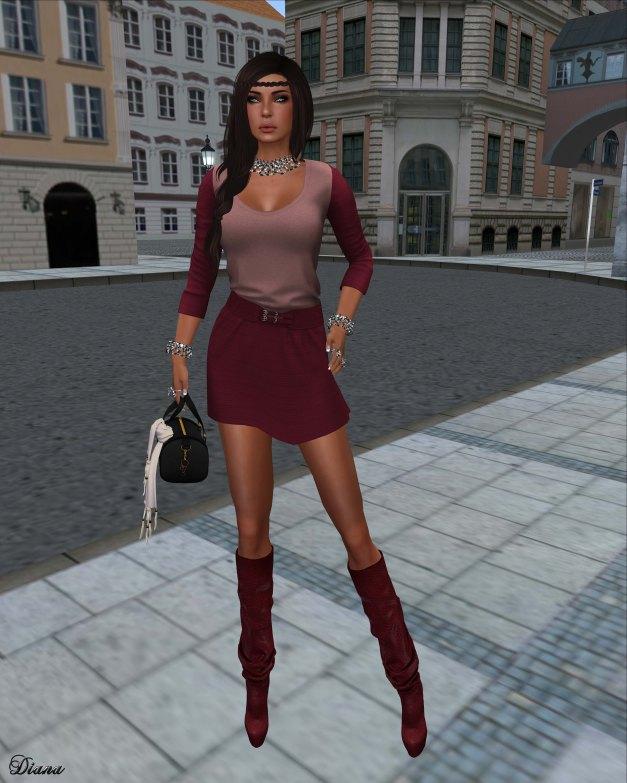 coldLogic - dress durling crimson