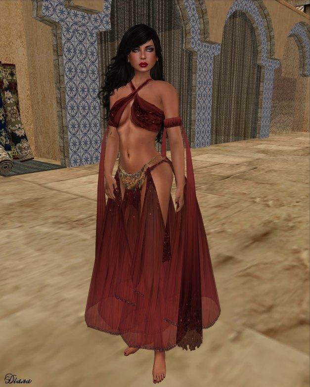 Hudson`s Clothing - Arabian Nights Red Wine Silks