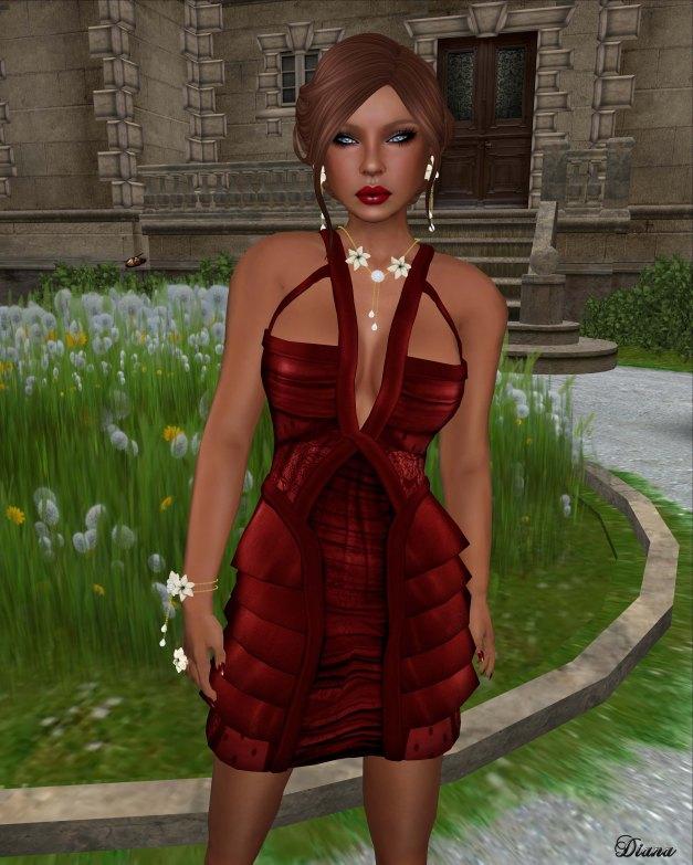 LeeZu! - Metropolis Dress couture red