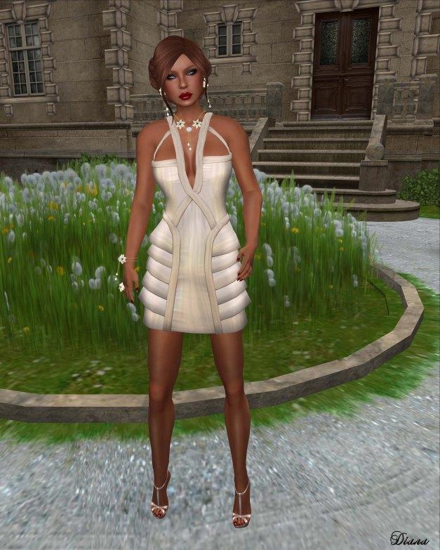 LeeZu! - Metropolis Dress plain nude