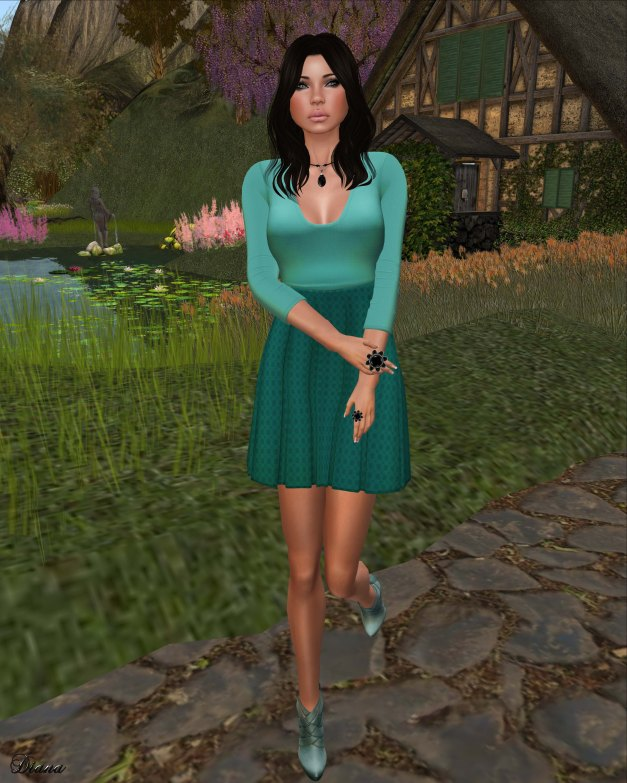 !Rebel Hope - Becky Mesh Dress Azure