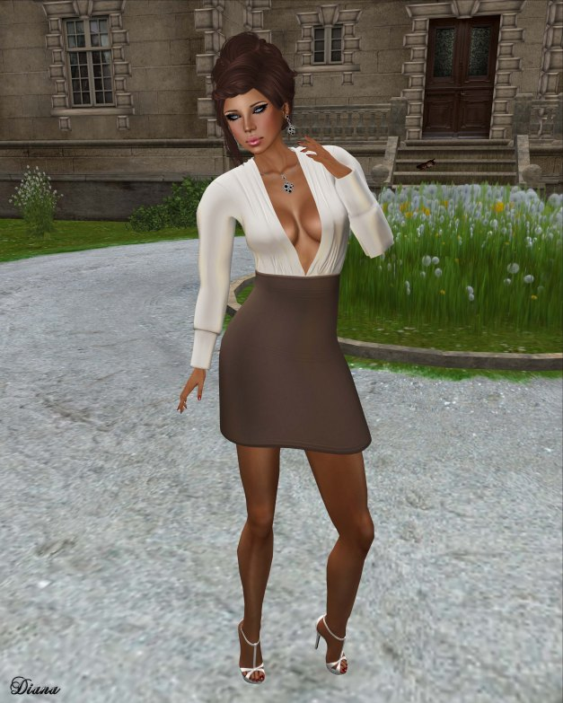 !Rebel Hope - Kourtney Linen Mesh Dress tan