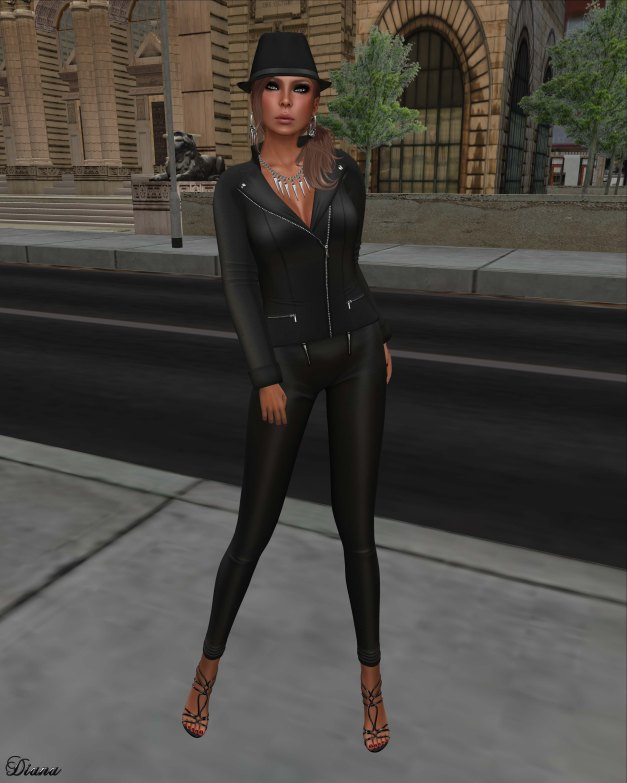 !Rebel Hope - Sherry Mesh Jacket black and Allie Mesh Leather Pants black