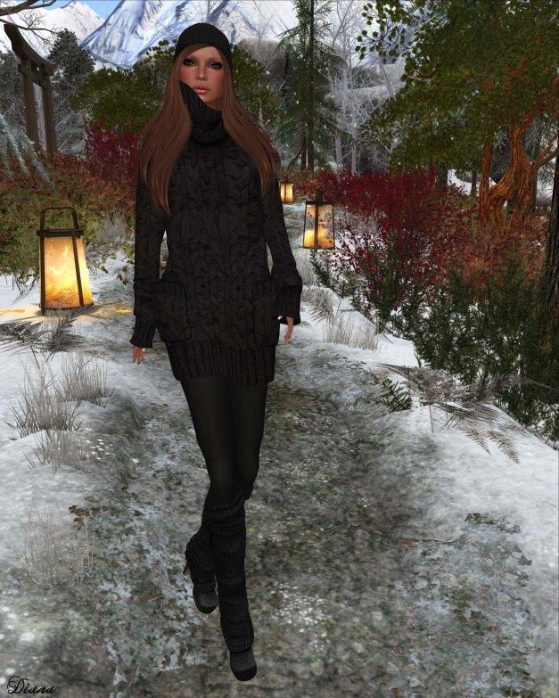 Gabriel - Sweater Dress black