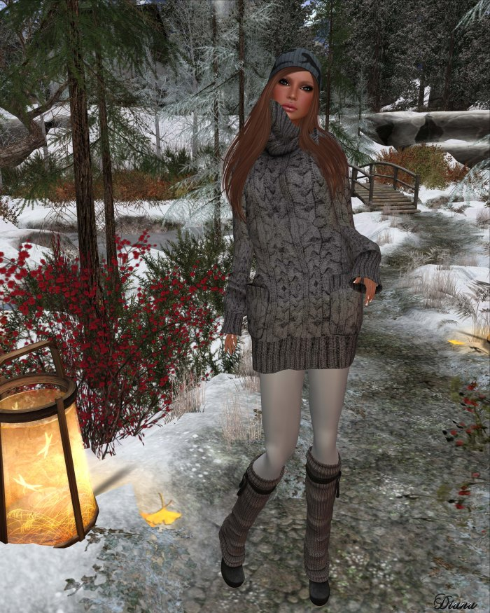 Gabriel - Sweater Dress gray