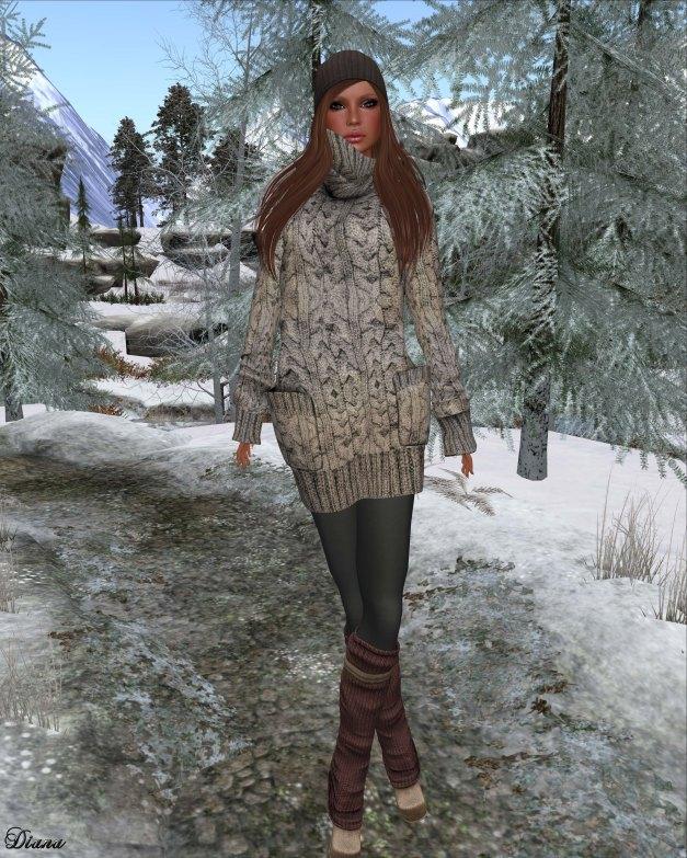 Gabriel - Sweater Dress light khaki