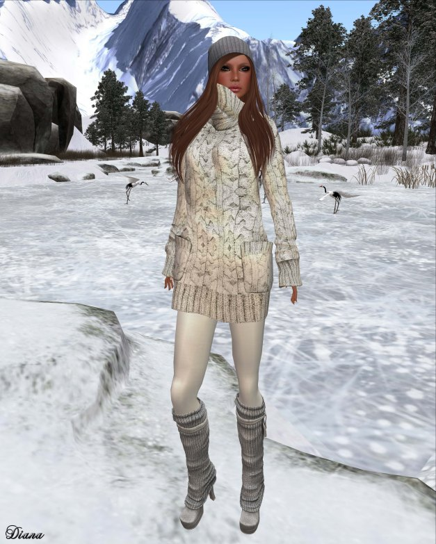 Gabriel - Sweater Dress white