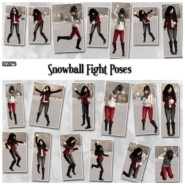 Izzie's - Snowball Fight Poses