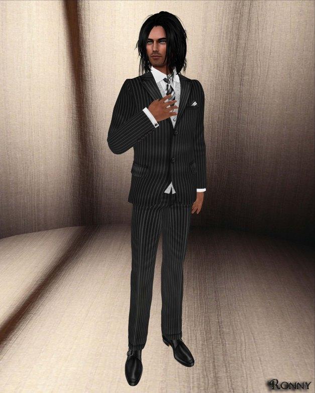 Lapointe & Bastchild - Tuxedo Modern Pinstripe Closed Set-2