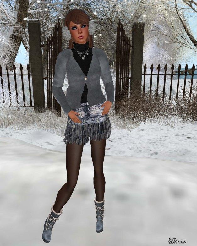 Mimikri - Anina Mohair Cardigan and Mini Skirt-1