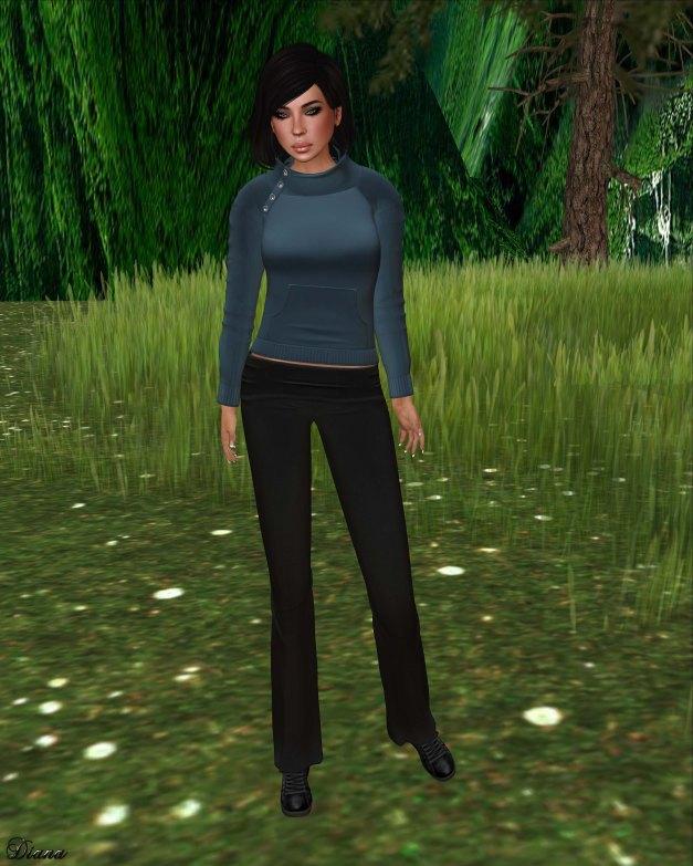 !Rebel Hope - Jaylin Mesh Sweatshirt aqua and Yoga Mesh Pants black