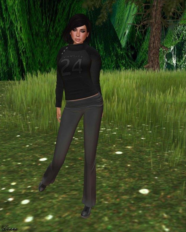 !Rebel Hope - Jaylin Mesh Sweatshirt Varsity black and Yoga Mesh Pants Varsity gray